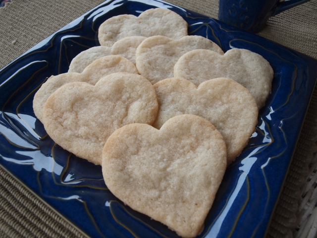 Very Vanilla Heart cookies